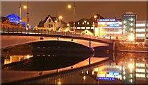 J3474 : The Queen Elizabeth Bridge, Belfast (3) by Albert Bridge