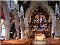 TQ2565 : All Saints church Benhilton - interior by Stephen Craven
