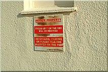 SZ9398 : No cycling etc. on Bognor Regis Pier by P L Chadwick