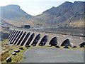 SH6644 : The Dam, Llyn Stwlan by Luke Church