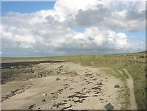 SH3368 : A small beach at the south-eastern corner of Porth Cwyfan by Eric Jones