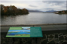 NS3882 : Information Board and Loch Lomond by David Lally