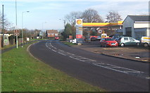 TM0659 : Garage on the A1120 at Stowupland by Andrew Hill