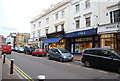 TQ5838 : Shops along the High St., Tunbridge Wells. by N Chadwick