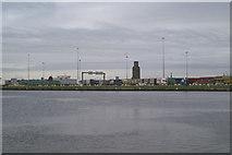 SJ3290 : Across Alfred Dock to the Irish/ Manx ferry terminal by David Long