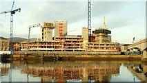 """J3474 : The """"Obel"""" site, Belfast (6) by Albert Bridge"""