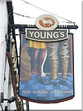 TQ1649 : West Street Pub Sign by Colin Smith