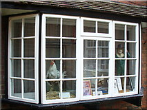 TQ1649 : Dorking and District Museum Window by Colin Smith
