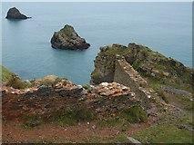 SX9456 : Walls at the Old Redoubt by Derek Harper