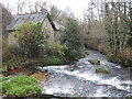 SW7437 : The River Kennall at Kennall Vale Mill by Rod Allday