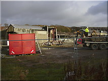 SD8122 : Demolition of Albion Mill, Bacup Road by Robert Wade