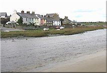 SH3568 : Houses overlooking the tidal Ffraw by Eric Jones