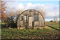 TL4492 : Disused warden's hut at Stonea Camp by Bob Jones