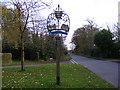 TM2460 : Brandeston Village Sign by Adrian Cable