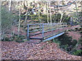 SW7437 : Footbridge over the River Kennall in Kennall Vale by Rod Allday