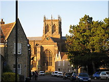 ST6316 : View of Sherborne Abbey from Digby Road by Sarah Smith