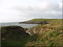SH3370 : An indentation in the coastline on the south side of Porth Trecastell by Eric Jones