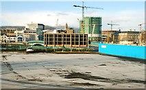 J3474 : Station Street car park, Belfast by Albert Bridge