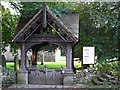 NY9166 : The lychgate of St. Michael's Church, Warden by Mike Quinn