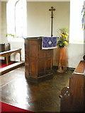 SD7656 : St Bartholomew Church, Tosside, Pulpit by Alexander P Kapp