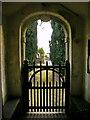SD7656 : St Bartholomew Church, Tosside, Gate by Alexander P Kapp