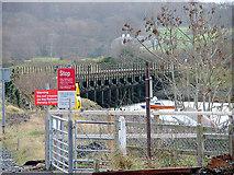 SH5727 : The Cambrian Coast Railway trestle bridge across the River Artro by John Lucas