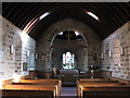 NZ0158 : The nave and chancel of St. John's Church, Healey by Mike Quinn