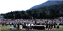 NO1491 : Podium at the Braemar Highland Games (1979) by Stanley Howe