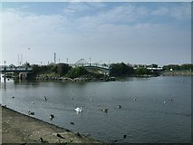 SD3317 : Southport Marine Lake by Gerald England