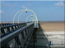 SD3317 : Southport Pier Bridge by Gerald England