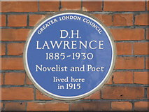TQ2686 : Plaque on house in Byron Villas, Vale of Health, NW3 by Mike Quinn