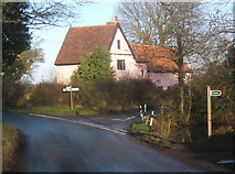 TM0249 : House at lane junction, Naughton by Andrew Hill