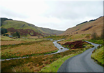 SN8355 : Road to Abergwesyn, and the Afon Irfon, Powys by Roger  Kidd