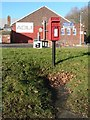SY8097 : Milborne St. Andrew: postbox № DT11 121, Blandford Hill by Chris Downer