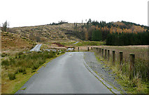 SN8355 : The road to Tregaron, in the Irfon Valley, Powys by Roger  Kidd