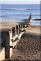 TM5176 : Groyne on Southwold beach by Bob Jones