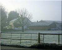 ST9357 : 2008 : Keevil Wick Farm in winter by Maurice Pullin