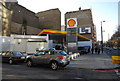 TQ3282 : Shell filling station, corner of Old St & Mallow St. by N Chadwick