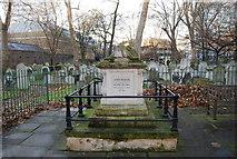 TQ3282 : John Bunyan's grave, Bunhill Field Burial Ground by N Chadwick