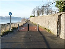 NS3974 : The Shore Circular Path (from Clydeshore Road) by Lairich Rig