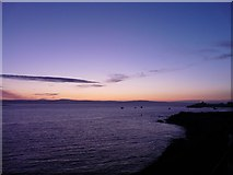 NU1341 : Winter Sky Over Holy Island by Adam Ward