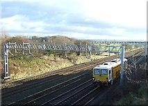 SJ8925 : Engineering train on the West Coast mainline by Simon Huguet