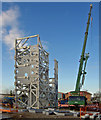 ST6982 : Trial erection of complex steel structure by Steve  Fareham