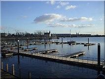 ST1974 : Moorings, Cardiff Bay by John Lord