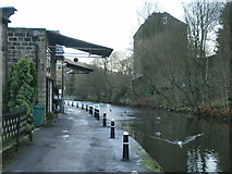 SD9827 : Rochdale Canal at the side of Hebble End Mill by Alexander P Kapp