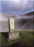 NT0612 : The Covenanters Stone above the Devils Beef Tub by Tom Richardson