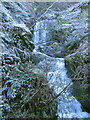 SN7071 : Waterfall by the minor road from Pontrhydygroes to Trawsgoed by Rudi Winter