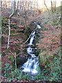 SN7272 : Waterfall in stream, Ystwyth gorge by Rudi Winter