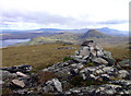 Looking S over the distinctively conical Cnoc nan Cuilean (NS96) directly behind Ben Hiel