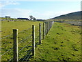 SX2573 : Fence on the old railway trackbed by Jonathan Billinger